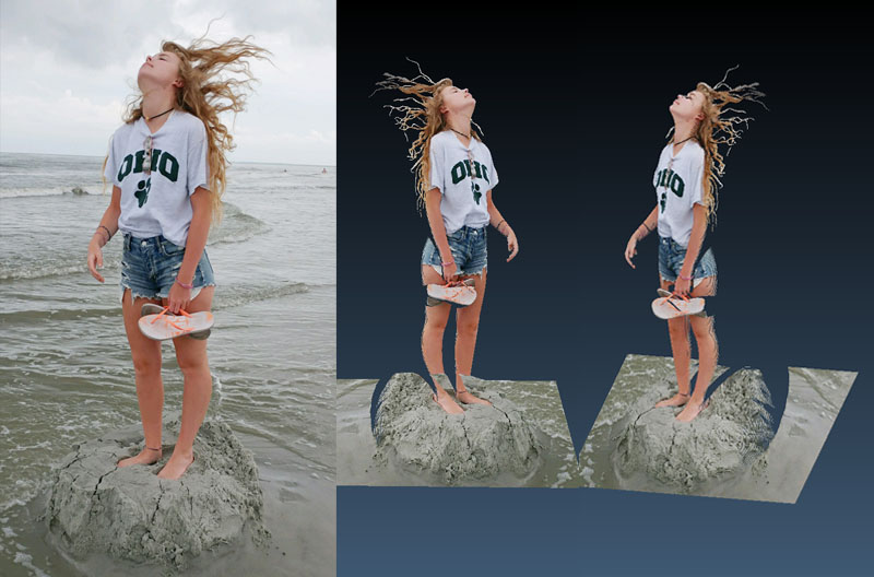 Photo to 180º 3D Portrait